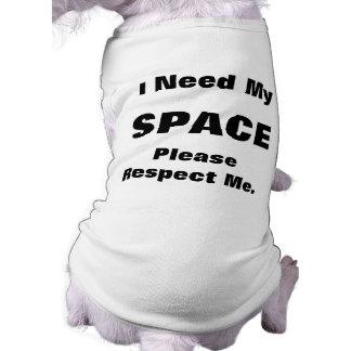 El perro amarillo me da la camisa del espacio camisetas de mascota