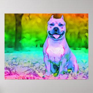 El perro americano de Terrier de pitbull Posters