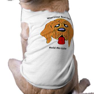 El perro amonestador no puede sostener camiseta playera sin mangas para perro