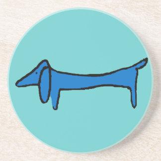 El perro azul del Dachshund Posavasos Diseño