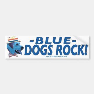 El perro azul oscila a la pegatina para el paracho pegatina para auto