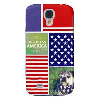 El perro bendice América patriótica