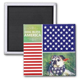 El perro bendice América patriótica Imán