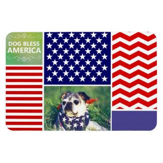 El perro bendice América patriótica Imanes De Vinilo