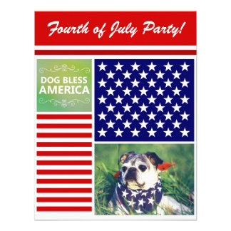 El perro bendice América patriótica Anuncio Personalizado