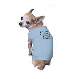 el perro bromea camisa del perro playera sin mangas para perro