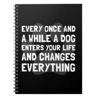 El perro cambia todo notebook