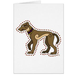 El perro céltico tarjeta de felicitación