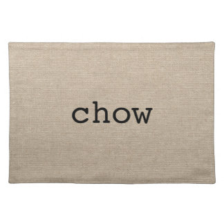El perro chino come jut inicial elegante rústico d manteles