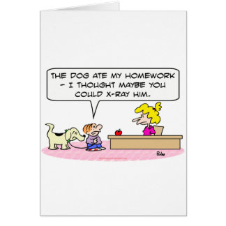 el perro comió la radiografía de la preparación tarjeton
