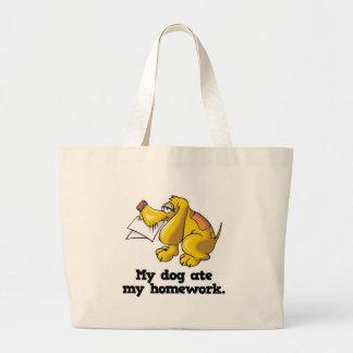 el perro comió mi preparación bolsa de mano