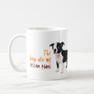 El perro comió mis planes de lección taza básica blanca