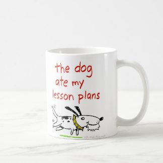 El perro comió mis planes de lección tazas de café