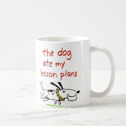 El perro comió mis planes de lección taza clásica