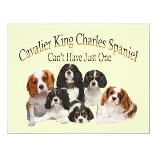 """El perro de aguas de rey Charles arrogante no Invitación 4.25"""" X 5.5"""""""