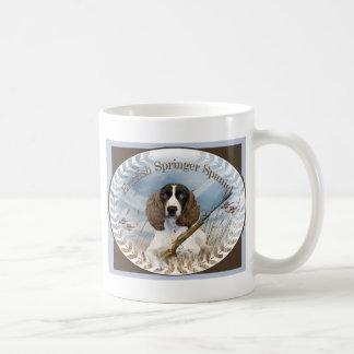 El perro de aguas de saltador inglés caza la taza