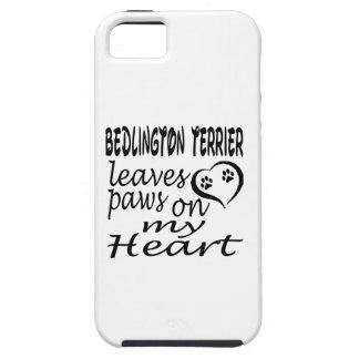 El perro de Bedlington Terrier deja la pata en mi  iPhone 5 Case-Mate Fundas