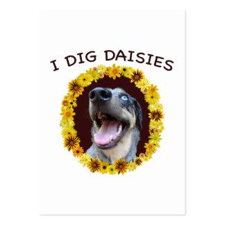 El perro de Catahoula cava margaritas Tarjetas De Visita