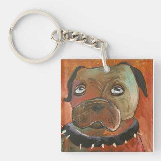 El perro de Gary Llavero Cuadrado Acrílico A Una Cara