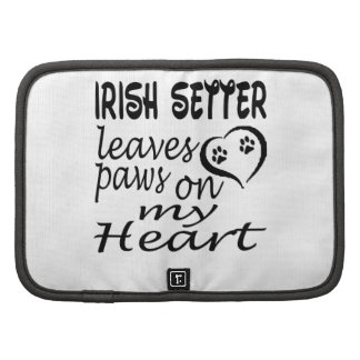 El perro de Irish Setter deja la pata en mi corazó Organizador