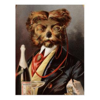 El perro de la clase alta tarjetas postales