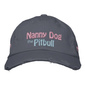 El perro de la niñera, pitbull Terrier americano,  Gorras De Béisbol Bordadas