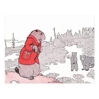 El perro de las praderas dice adiós a los osos postal