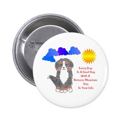 El perro de montaña de Bernese cada día es un buen Pin Redondo 5 Cm