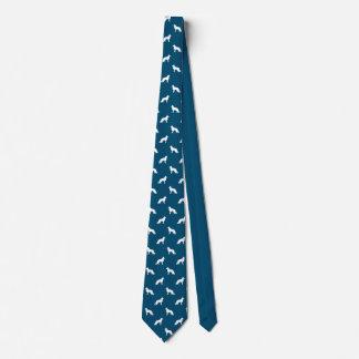 El perro de pastor alemán blanco siluetea el corbatas personalizadas