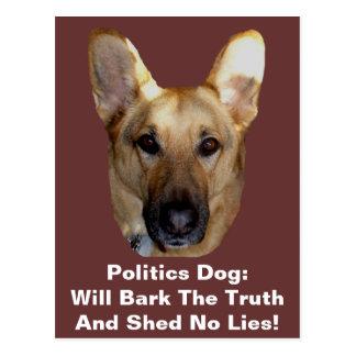 El perro de pastor alemán de la política raspará l postales