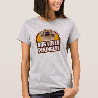 El perro de Pekingese del amante del perro cría Playera