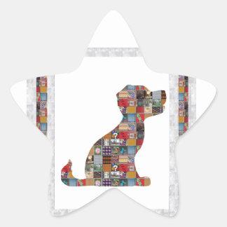 El perro de PERRITO EMBROMA la diversión de piedra Calcomanía Forma De Estrella