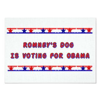 """El perro de Romney Invitación 5"""" X 7"""""""