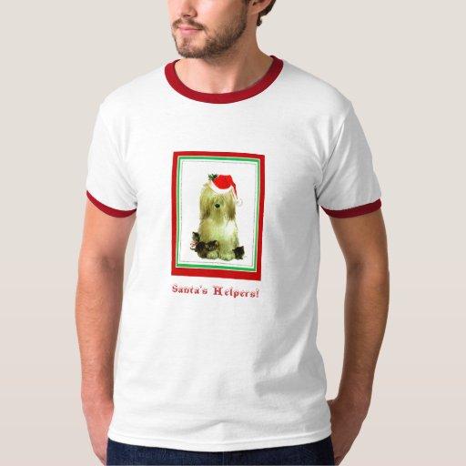 El perro de Santa y camisa de los gatitos