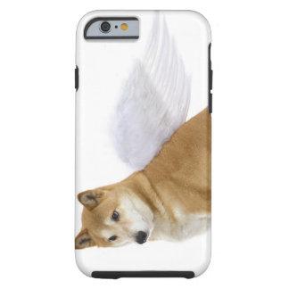 El perro de Shiba Inu con ángel se va volando, Funda De iPhone 6 Tough