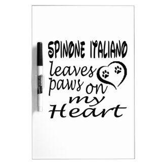 El perro de Spinone Italiano deja la pata en mi co