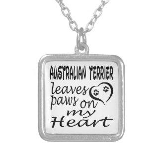 El perro de Terrier australiano deja la pata en mi Pendiente Personalizado