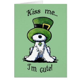 El perro de Westie Terrier ME BESA tarjeta