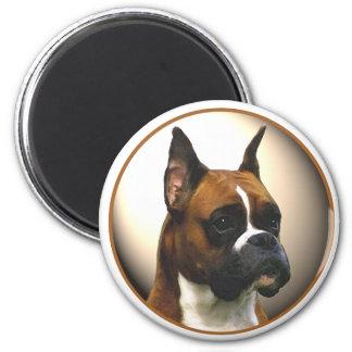 El perro del boxeador imán redondo 5 cm