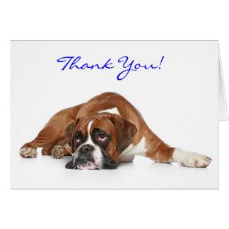 El perro del boxeador le agradece Notecard - Tarjeta Pequeña