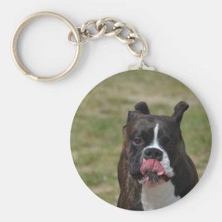 El perro del boxeador que lame el suyo taja llaveros