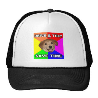 El perro del consejo dice: Impulsión y texto Gorro