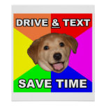 El perro del consejo dice: Impulsión y texto Poster