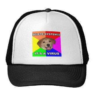 El perro del consejo dice: Suprima el virus Gorros Bordados