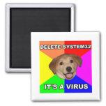 El perro del consejo dice: Suprima el virus Iman Para Frigorífico