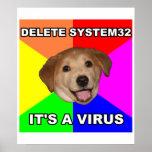 El perro del consejo dice: Suprima el virus Impresiones