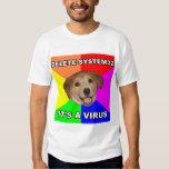 El perro del consejo dice: Suprima el virus Playeras