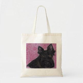 El perro del escocés florece el cumpleaños etc. de bolsas de mano