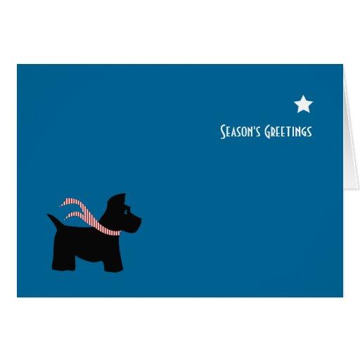 El perro del escocés sazona saludos tarjeta pequeña