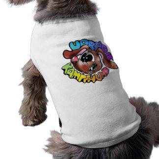 el perro del hund del hunde persigue la camiseta playera sin mangas para perro